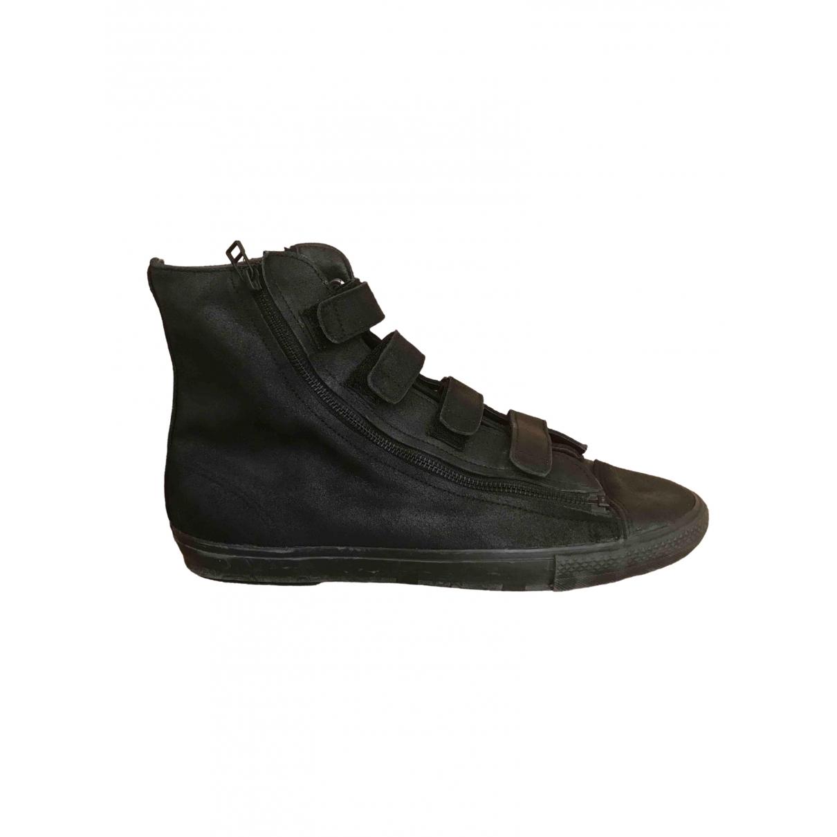 Yohji Yamamoto \N Black Leather Trainers for Men 44 EU