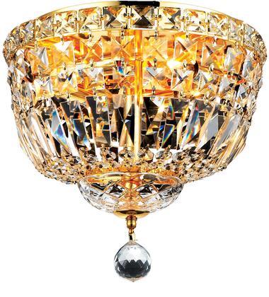 V2528F12G/EC 2528 Tranquil Collection Flush Mount D:12In H:9In Lt:4 Gold Finish (Elegant Cut