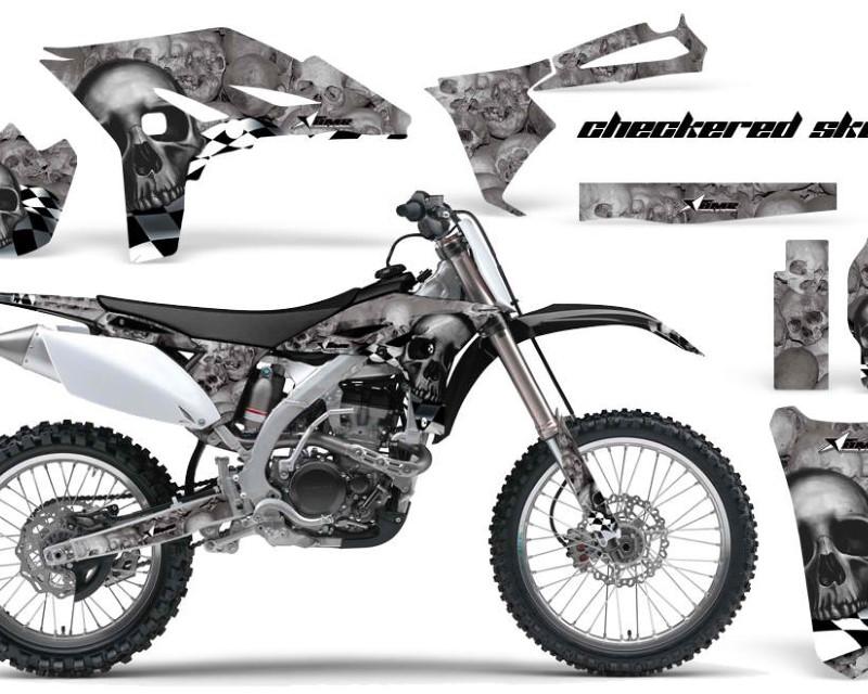 AMR Racing Dirt Bike Graphics Kit Decal Sticker Wrap For Yamaha YZ250F 2010-2013áCHECKERED BLACK