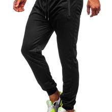 Einfarbige Jogginghose mit Kordelzug auf Taille