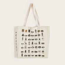 Camera & Letter Graphic Book Bag