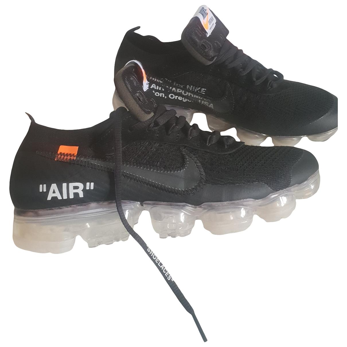 Nike X Off-white - Baskets Vapormax pour homme en cuir - noir