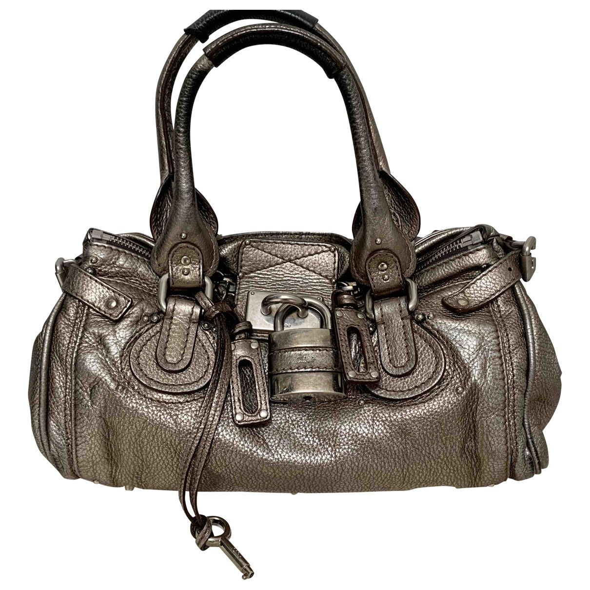 Chloé Paddington Metallic Leather handbag for Women \N