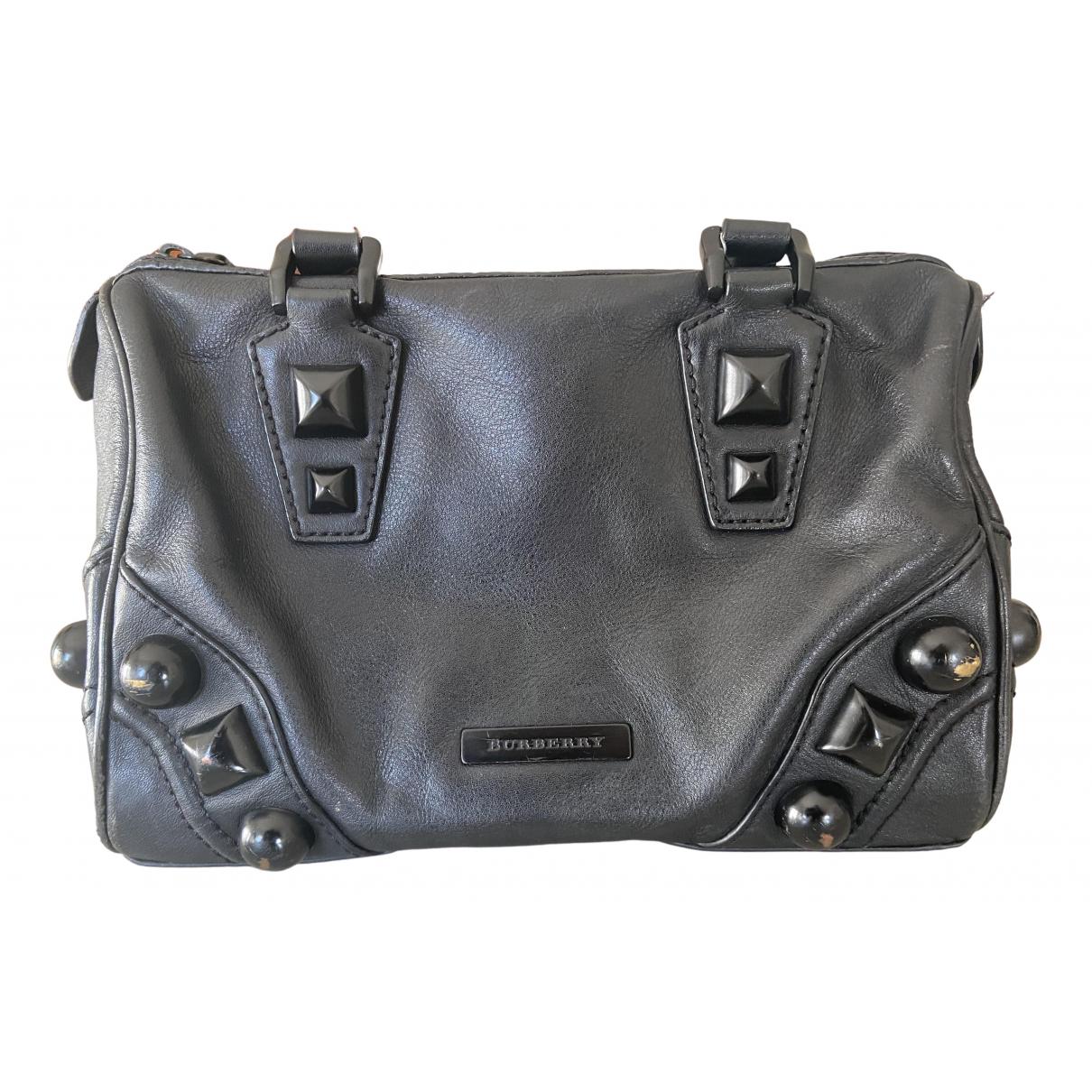 Burberry N Black Leather handbag for Women N