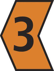 HellermannTyton Ovalgrip Slide On Cable Marker, Pre-printed 3 Black on Orange 1.2 → 2.3mm Dia. Range