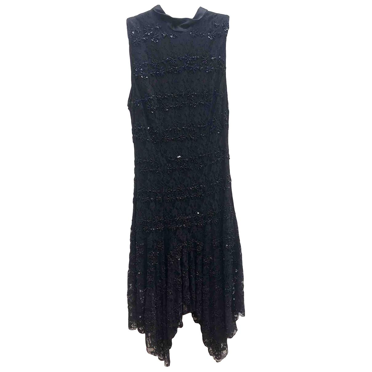 Flavio Castellani \N Kleid in  Schwarz Polyester
