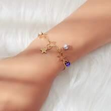 Armband mit Kunstperlen & Stern Dekor
