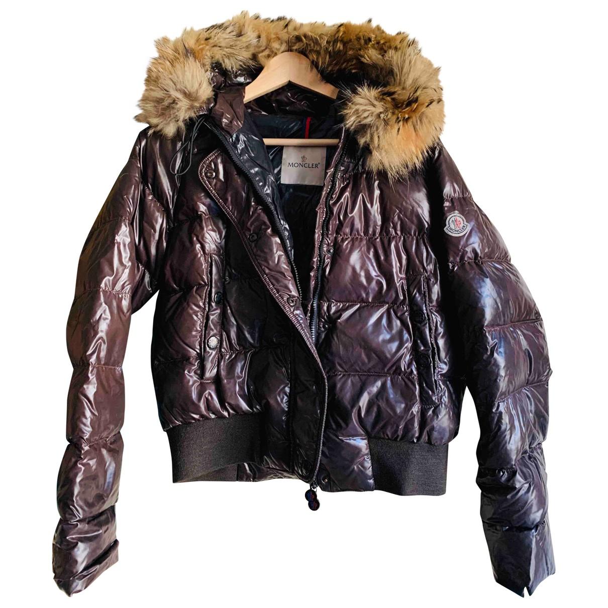Moncler Classic Brown Fur coat for Women 40 FR
