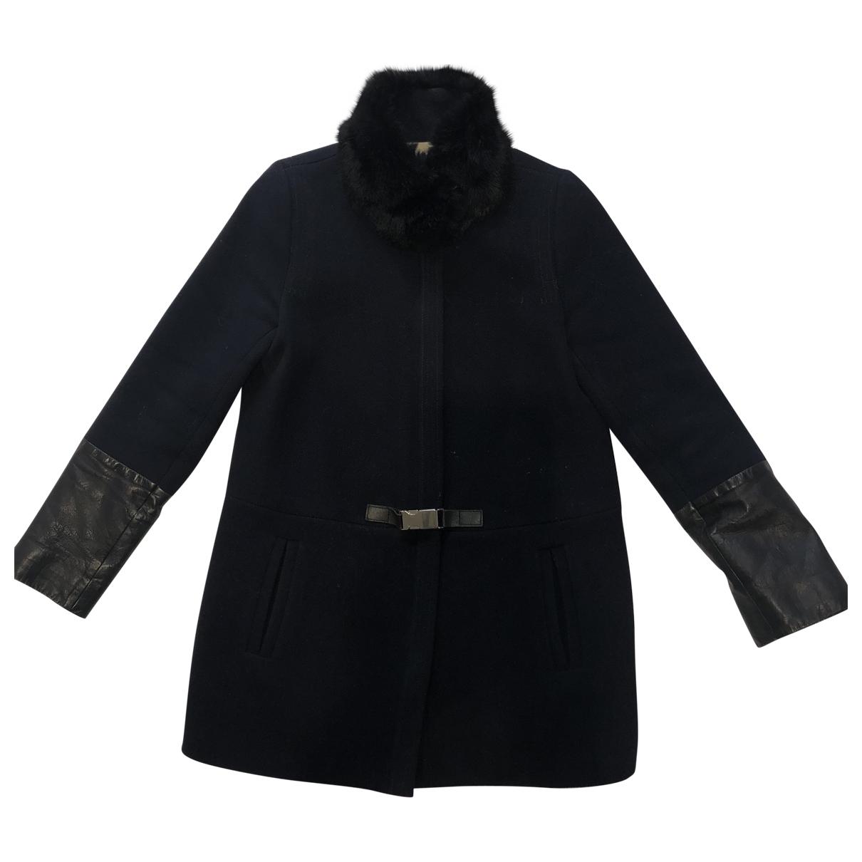 Claudie Pierlot \N Blue Wool coat for Women 36 FR