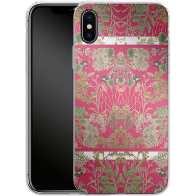 Apple iPhone X Silikon Handyhuelle - Botanic Frames von Zala Farah