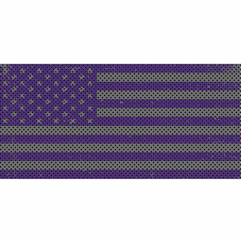 Jeep Gladiator Grill Inserts 2020-Present Gladiator Distressed Purple and Silver Under The Sun Inserts INSRT-DTRPRPS-JT
