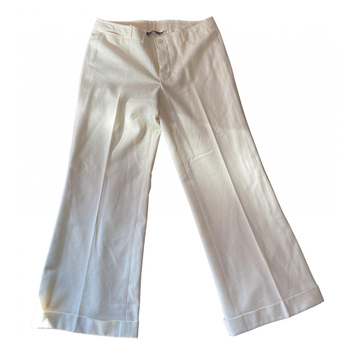 Ralph Lauren N Beige Wool Trousers for Women XS International