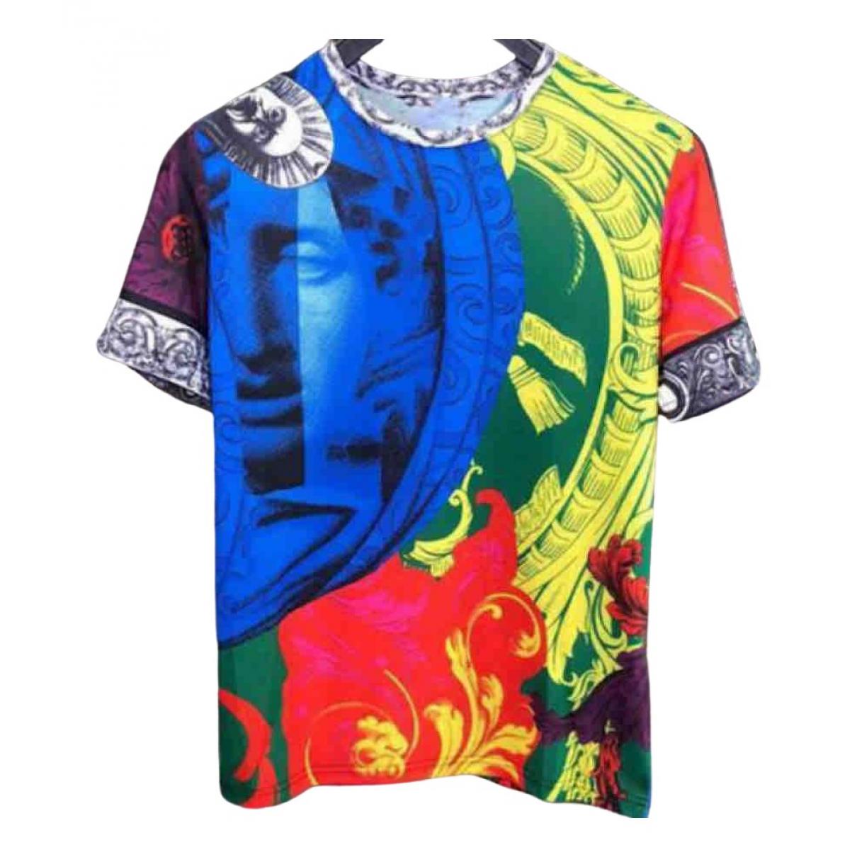 Versace - Tee shirts   pour homme en coton - multicolore