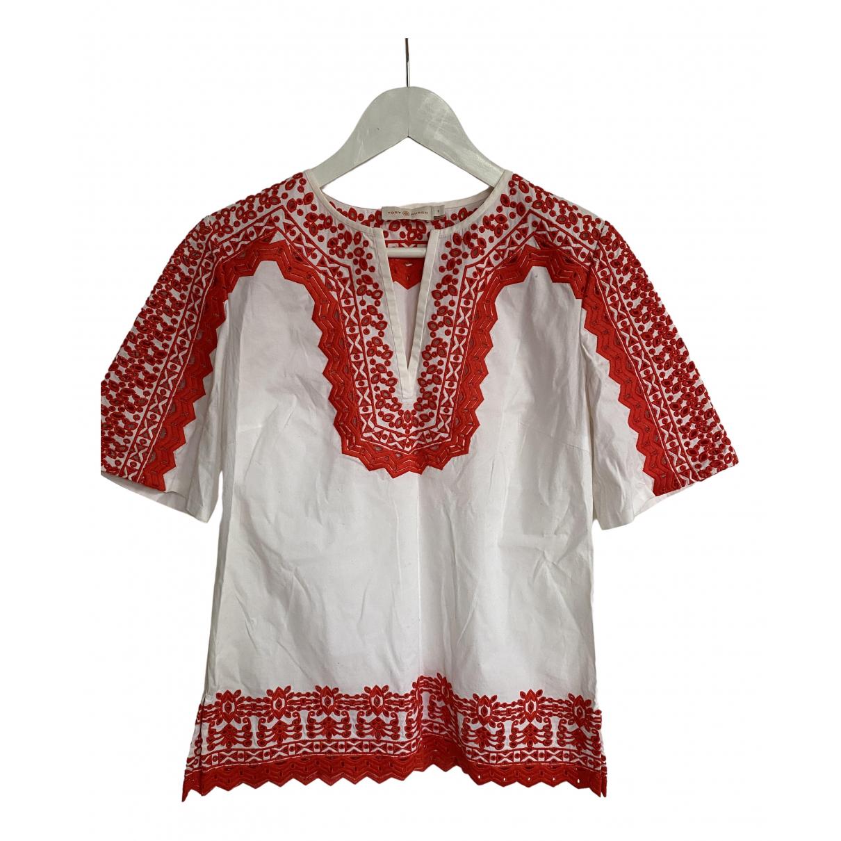 Tory Burch - Top   pour femme en coton - blanc