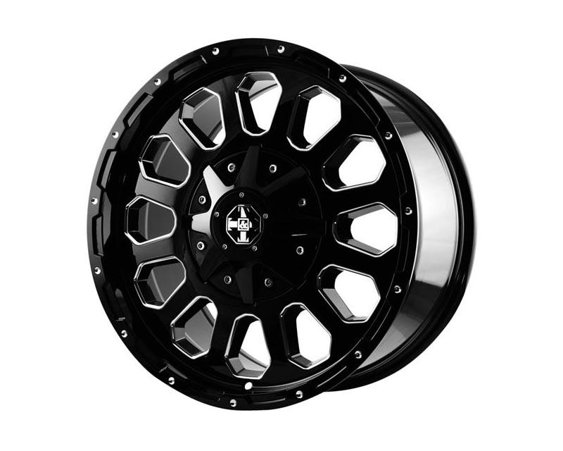 TNT Wheels 536117 Blast Wheel 20x9 5x139.70/1500 18 BKGLBA Gloss Black Ball Cut Milling