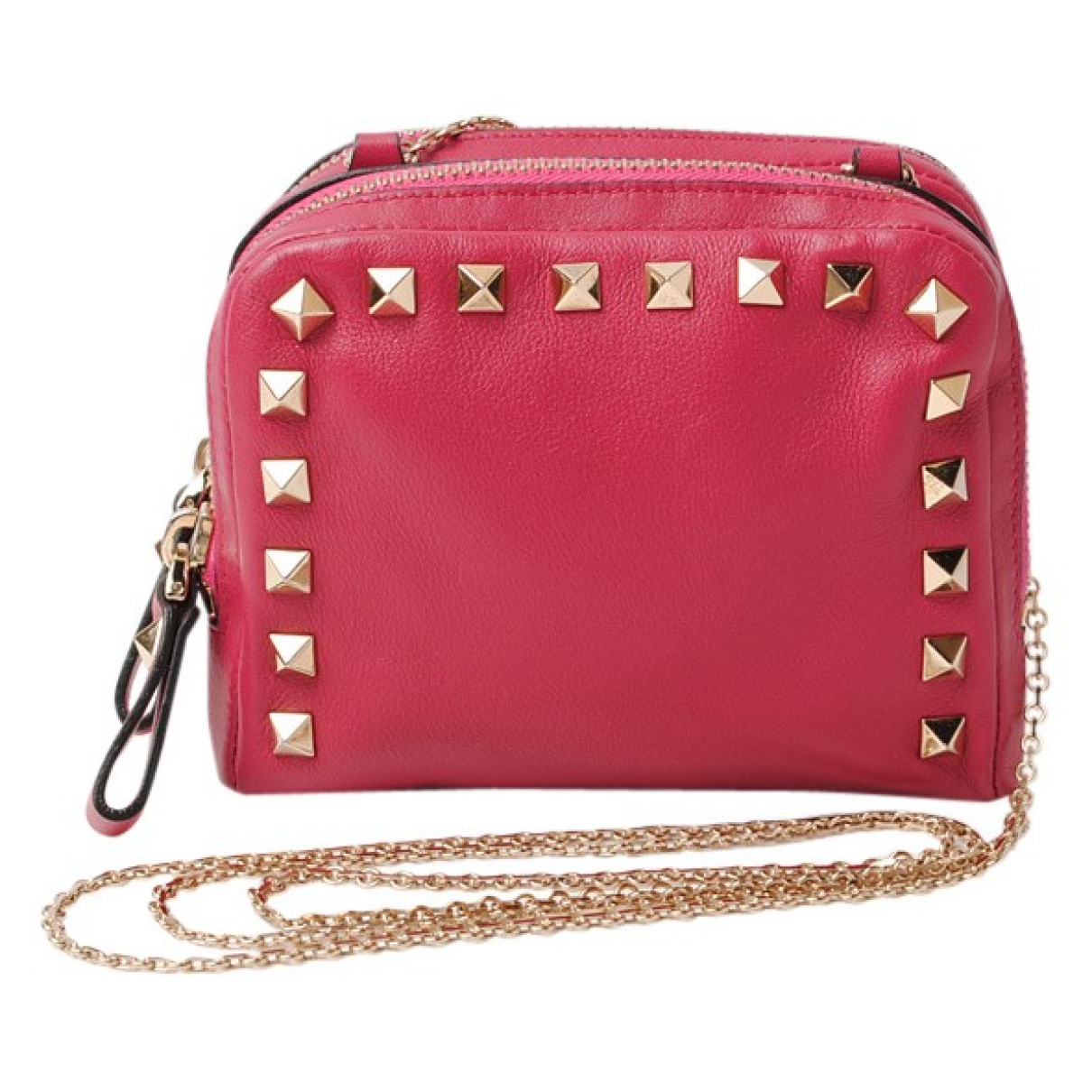 Valentino Garavani \N Pink Leather Clutch bag for Women \N