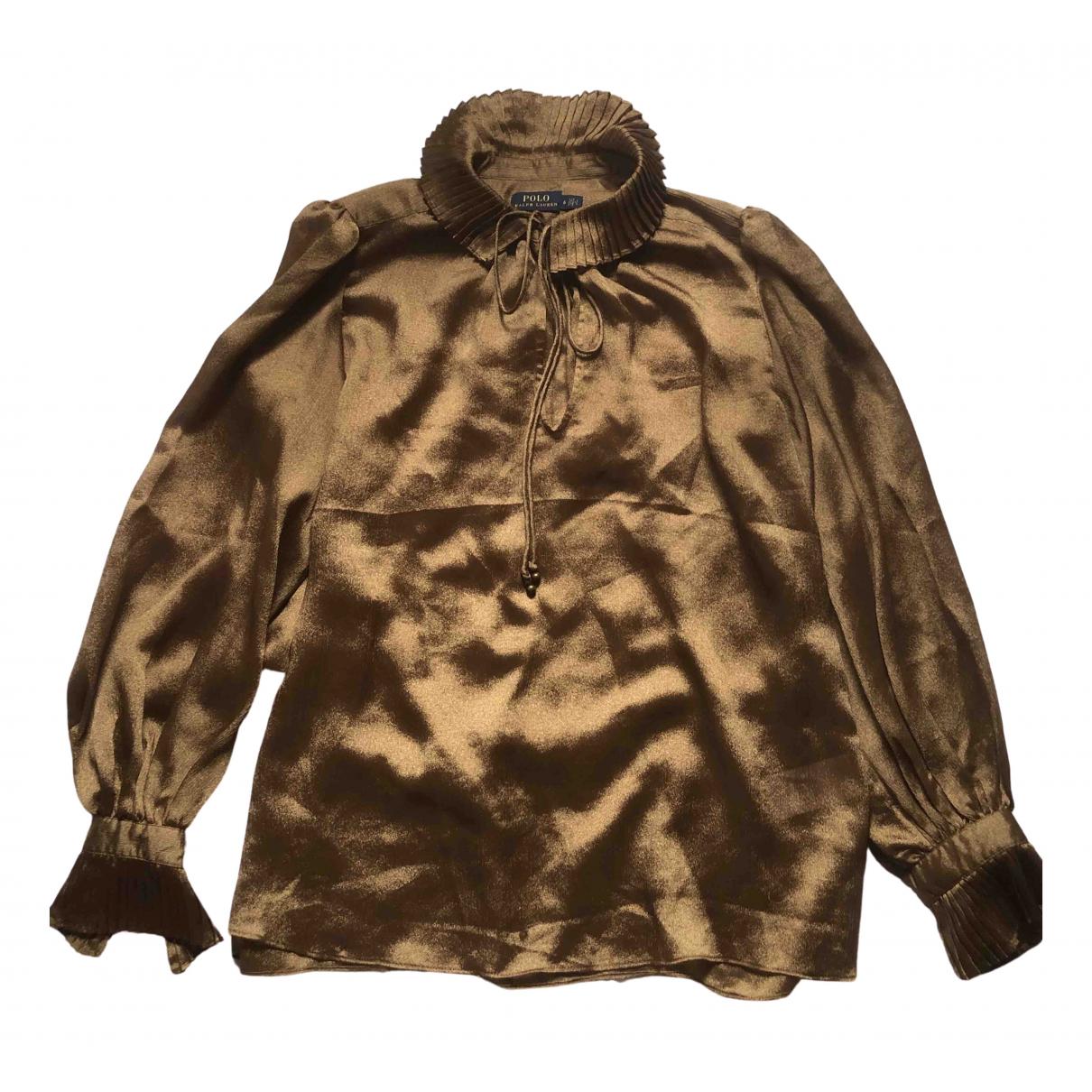 Polo Ralph Lauren \N Gold Silk  top for Women 6 US