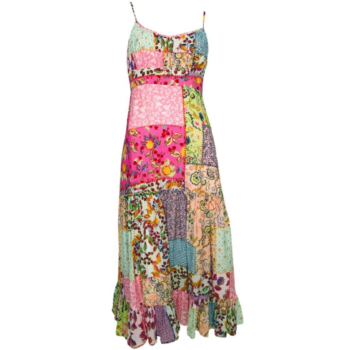 Saloni \N Kleid in  Bunt Baumwolle