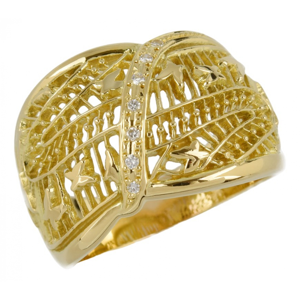 Non Signé / Unsigned \N Gold Gold plated ring for Women 57 EU