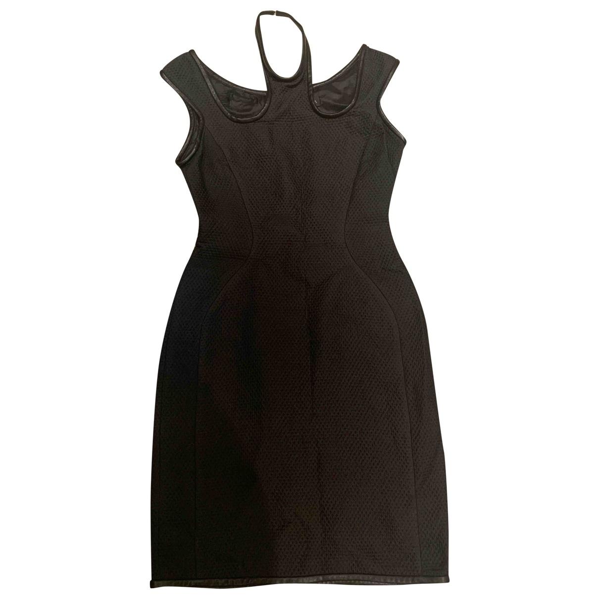 David Koma - Robe   pour femme en soie - noir