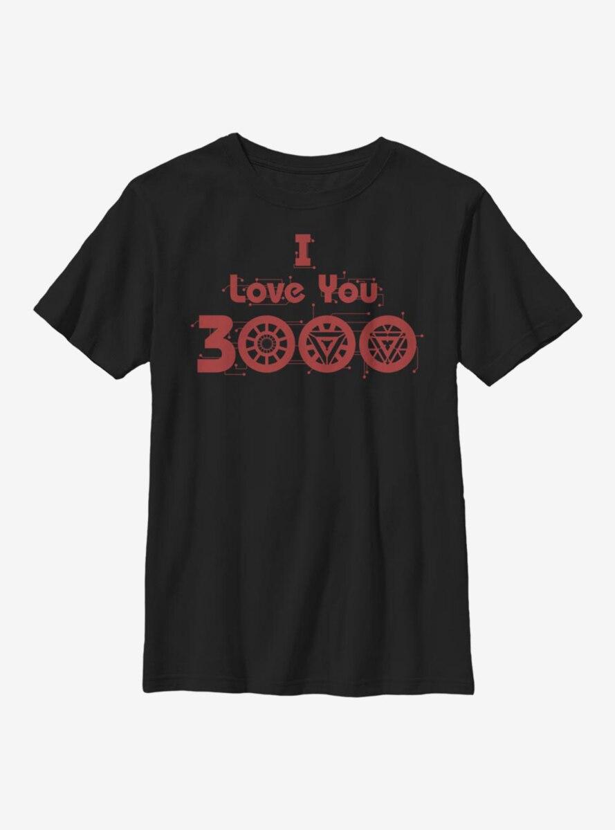 Marvel Iron Man Love Circuits Youth T-Shirt