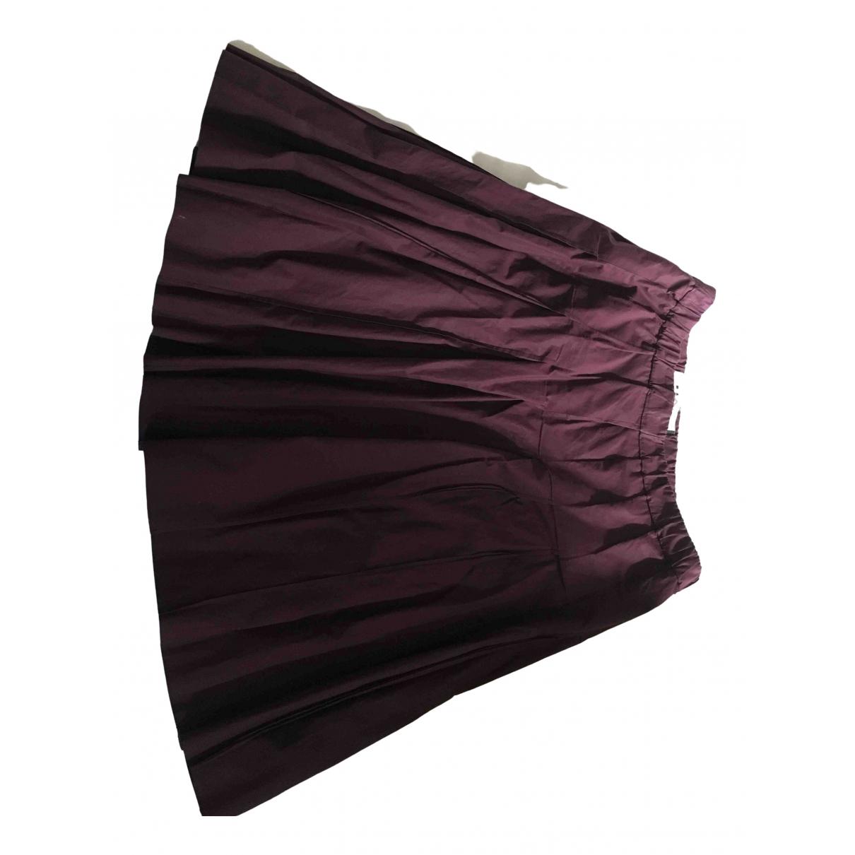 Marni - Jupe   pour femme en coton - bordeaux