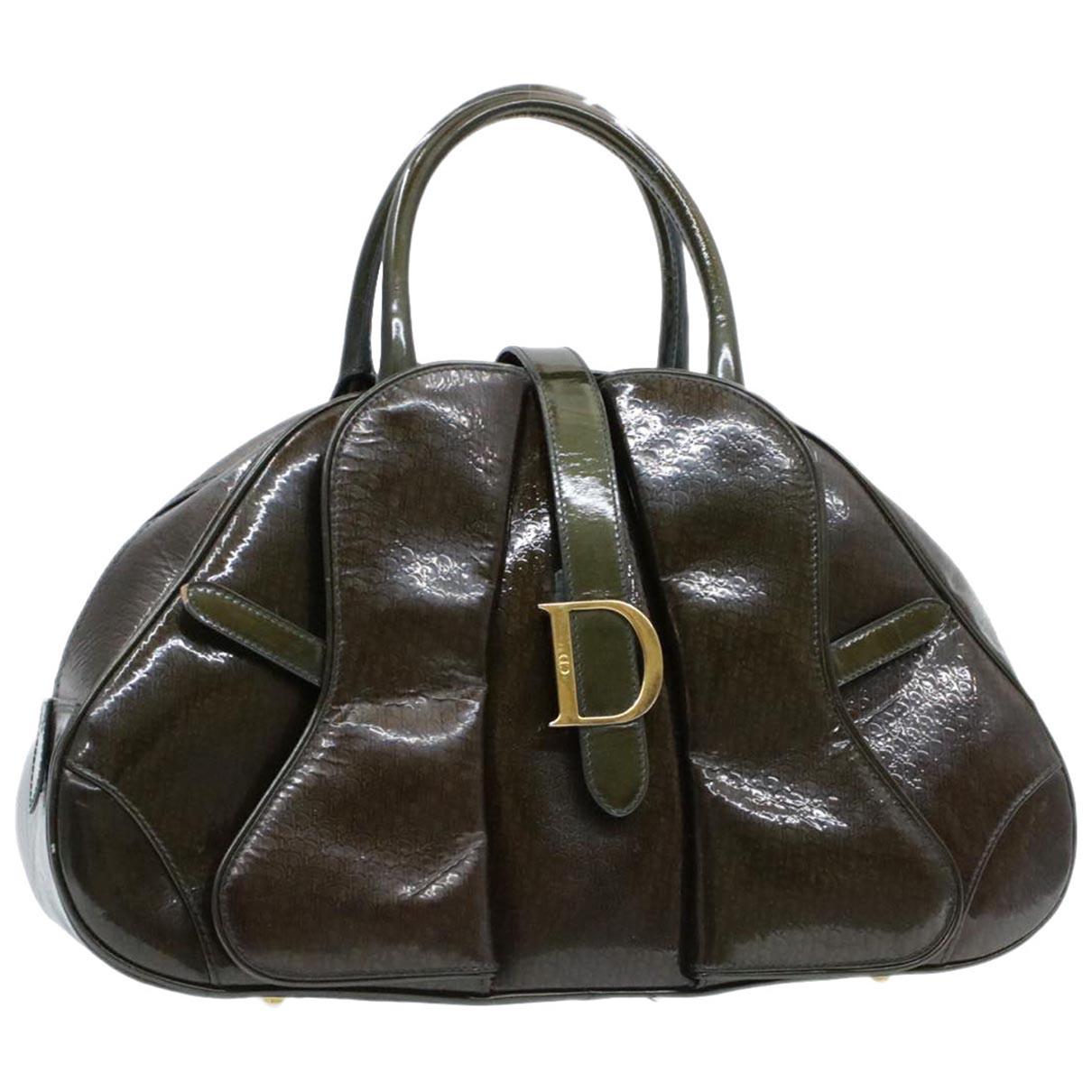 Christian Dior \N Handtasche in  Gruen Lackleder
