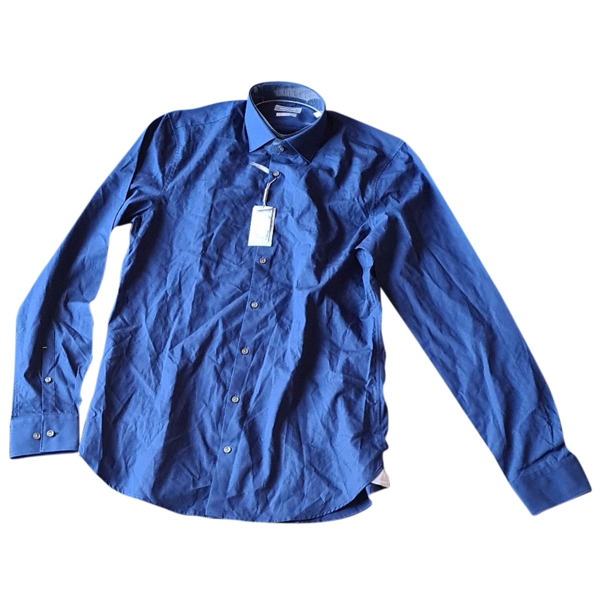Michael Kors - Chemises   pour homme en coton - bleu