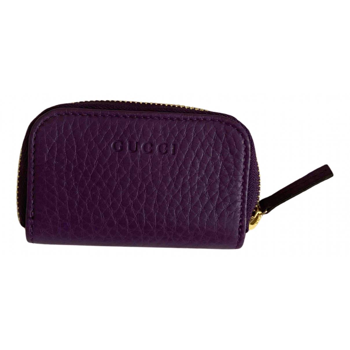 Gucci - Portefeuille Soho pour femme en cuir - violet