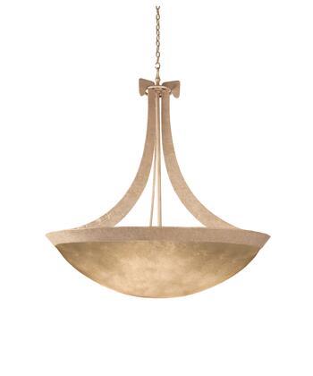 Copenhagen 4349MG/IRSH 45 Pendant in Modern Gold with Iridescent Shell Natural Bowl Glass