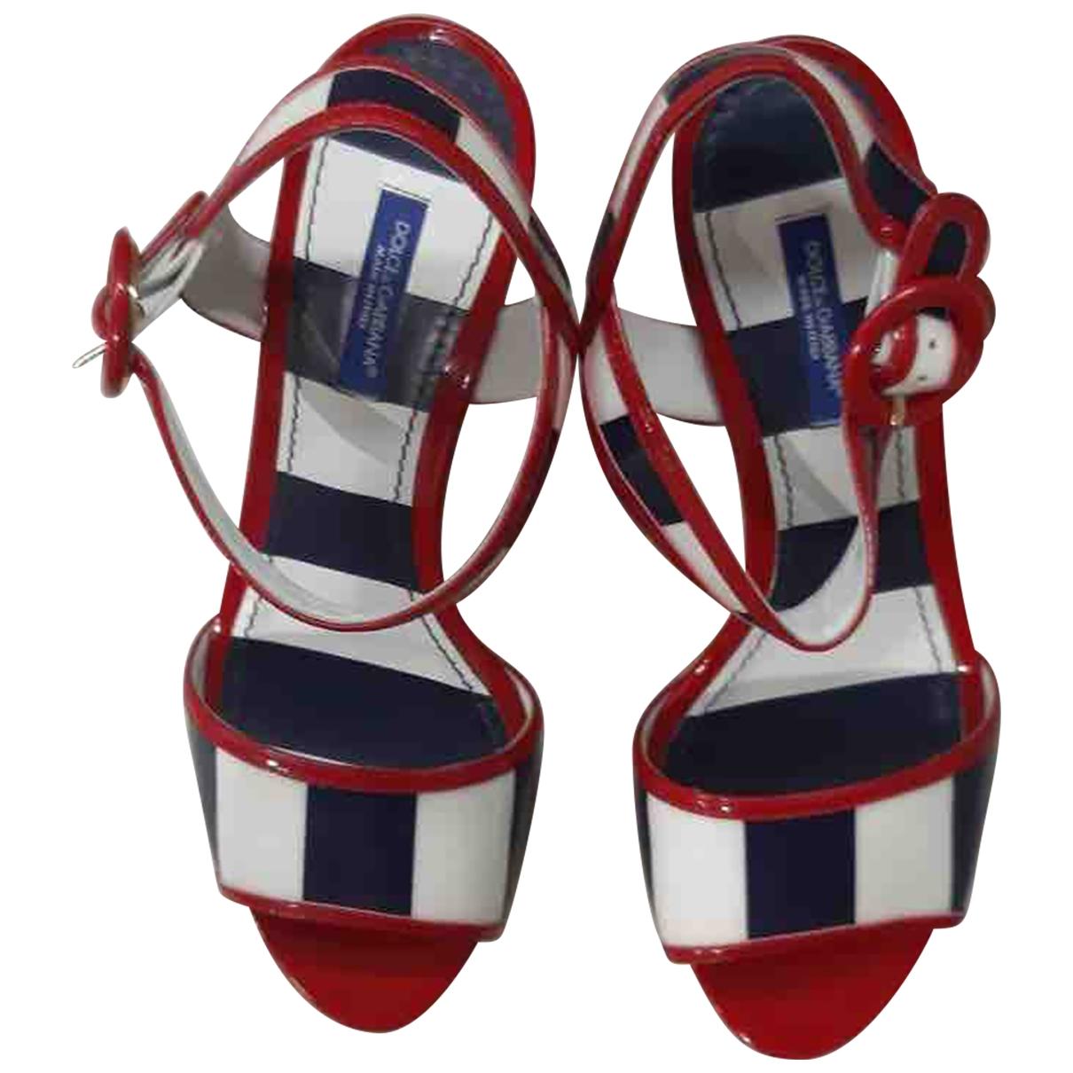 Dolce & Gabbana - Sandales   pour femme en cuir - rouge