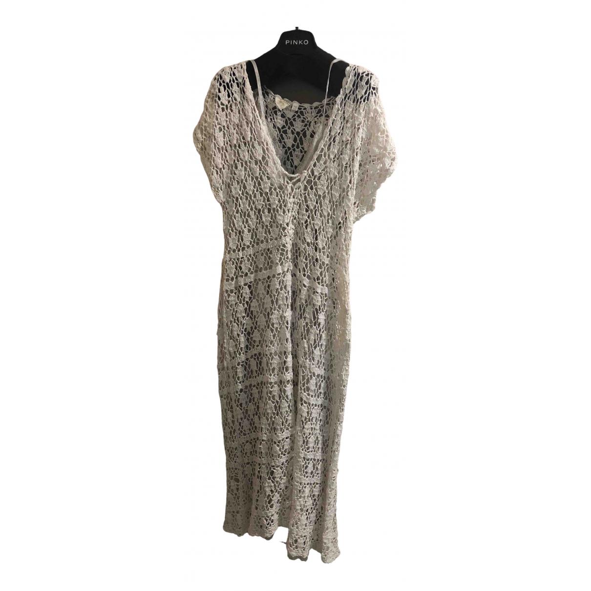 Blue Hippy \N Kleid in  Beige Baumwolle