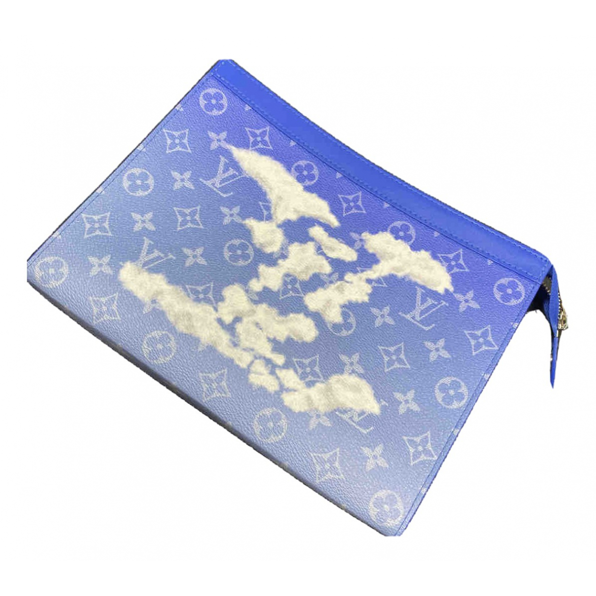 Louis Vuitton \N Blue Cloth Small bag, wallet & cases for Men \N