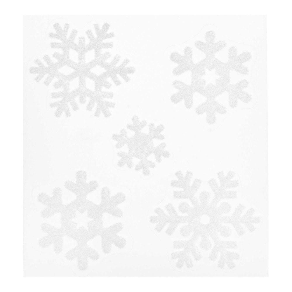 Sticker Schneeflocken, weiss