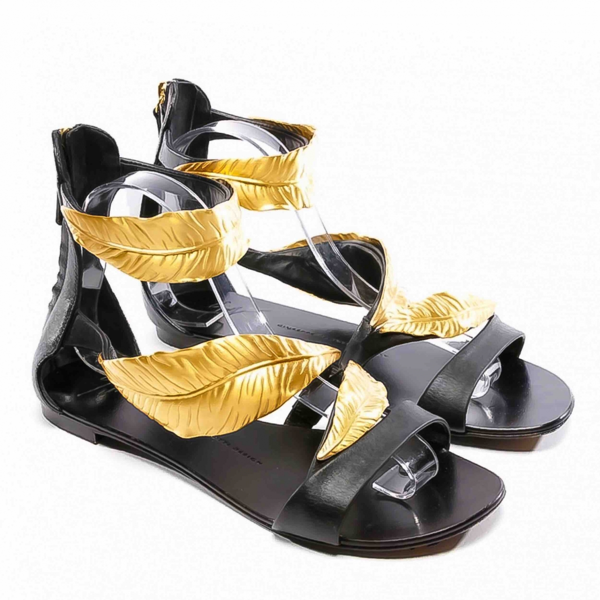 Giuseppe Zanotti \N Black Leather Sandals for Women 40 EU