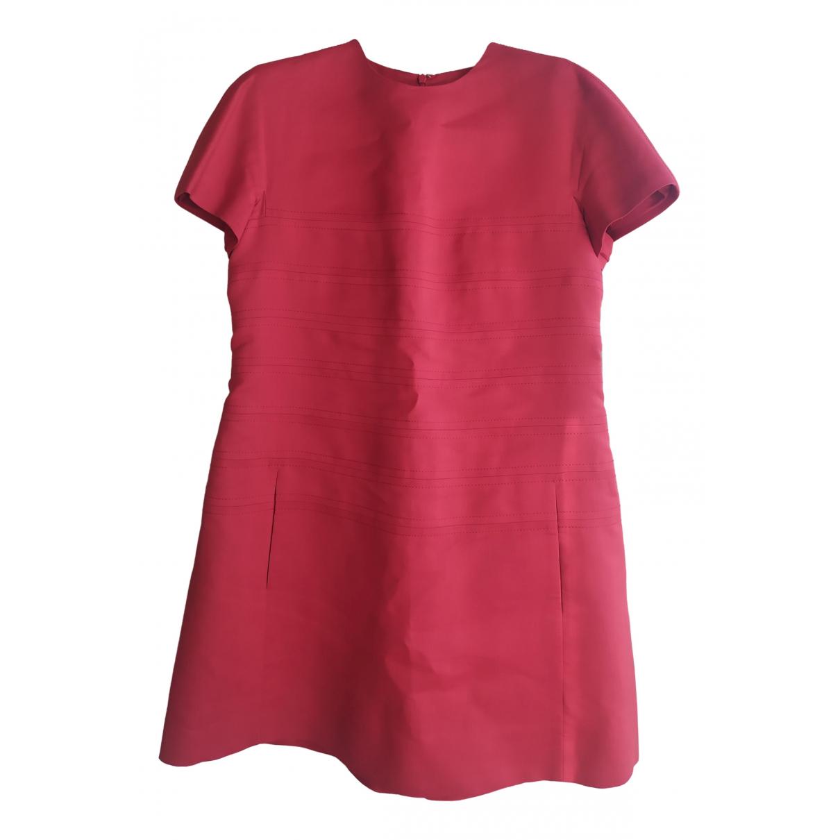 Valentino Garavani \N Kleid in  Rot Baumwolle