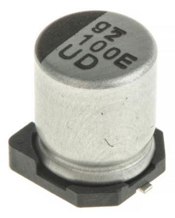Nichicon 100μF Electrolytic Capacitor 25V dc, Surface Mount - UUD1E101MCL1GS (5)