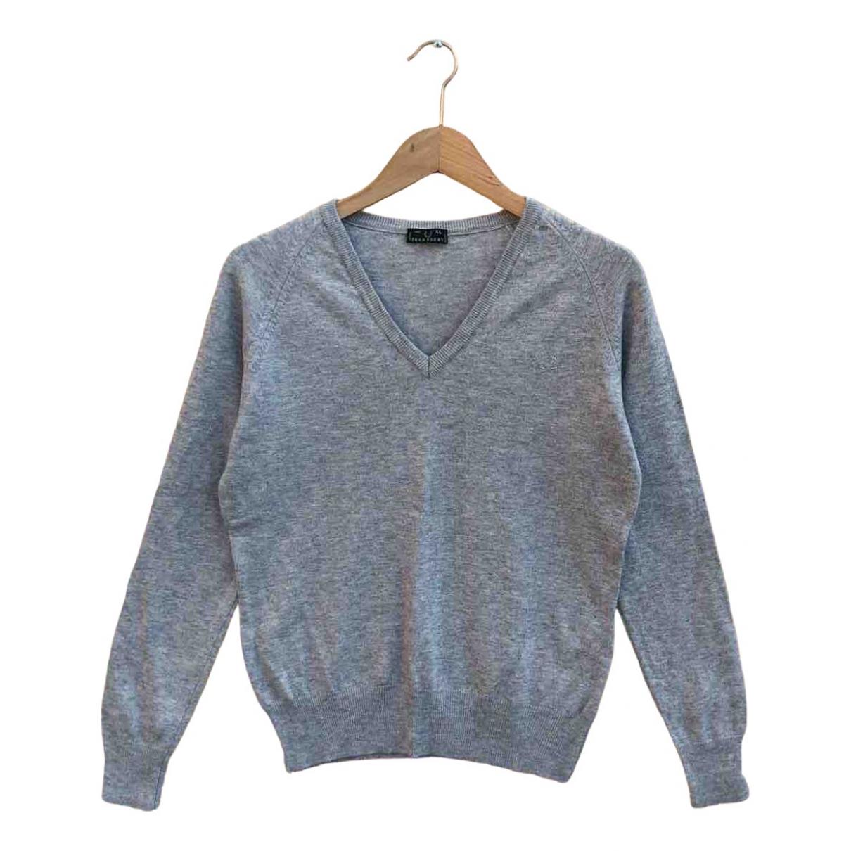 Fred Perry N Grey Wool Knitwear for Women XL International