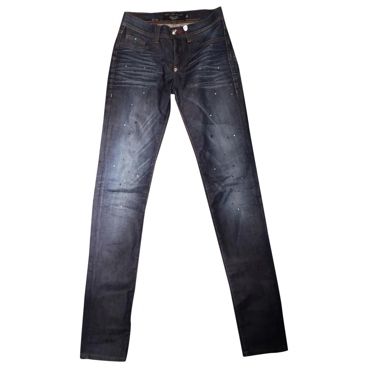 Philipp Plein \N Blue Cotton - elasthane Jeans for Women 25 US