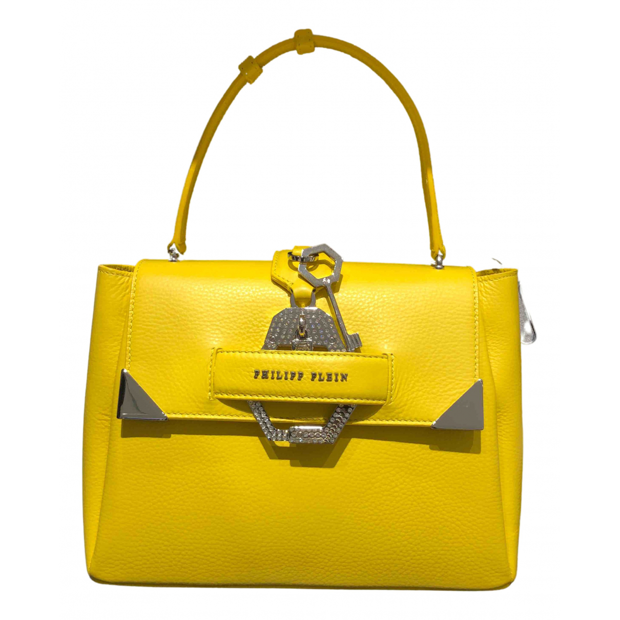 Philipp Plein \N Yellow Leather handbag for Women \N