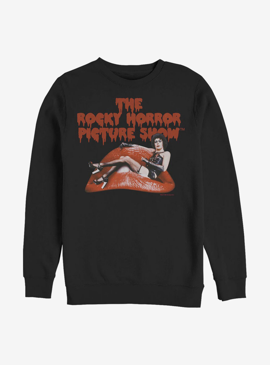 Rocky Horror Picture Show Frank And Lips Sweatshirt
