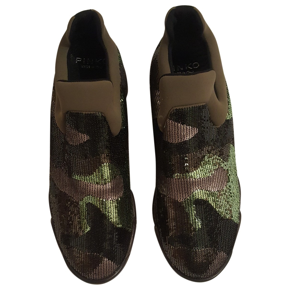 Pinko \N Sneakers in  Gruen Polyester