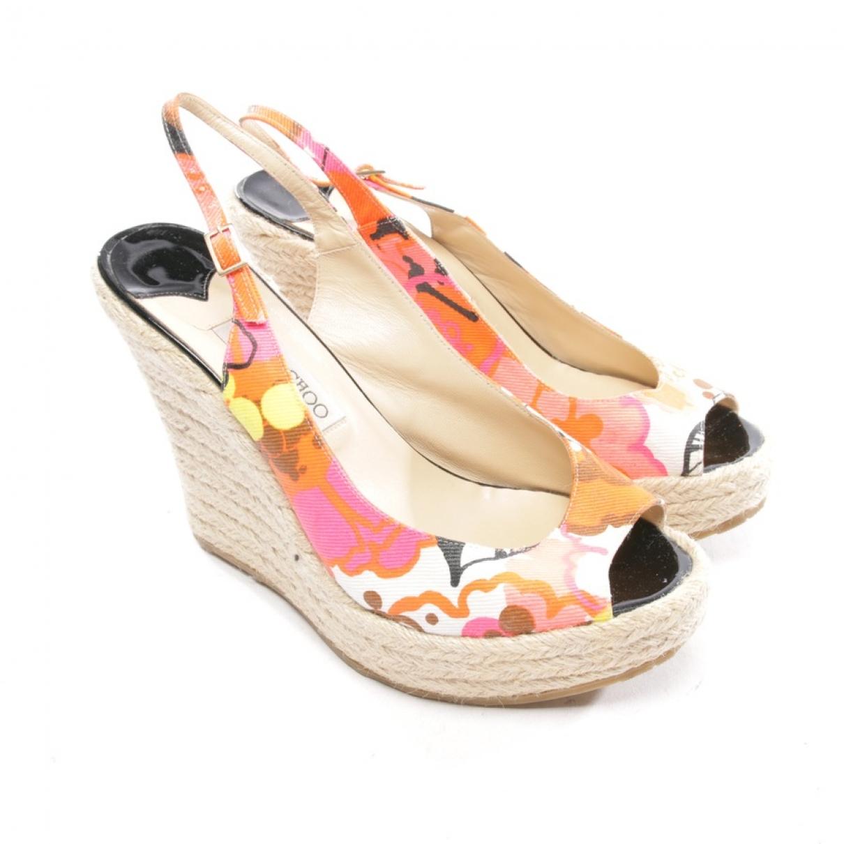Jimmy Choo - Sandales   pour femme en toile - multicolore