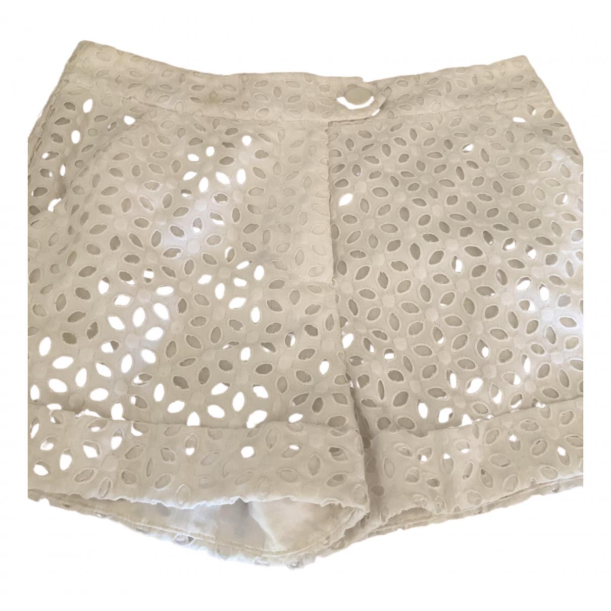 Zimmermann - Short   pour femme en coton - blanc