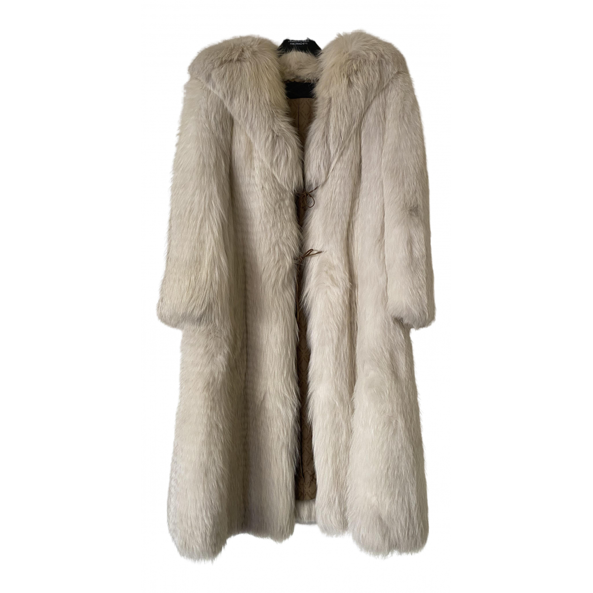 Fendi - Manteau   pour femme en renard - blanc