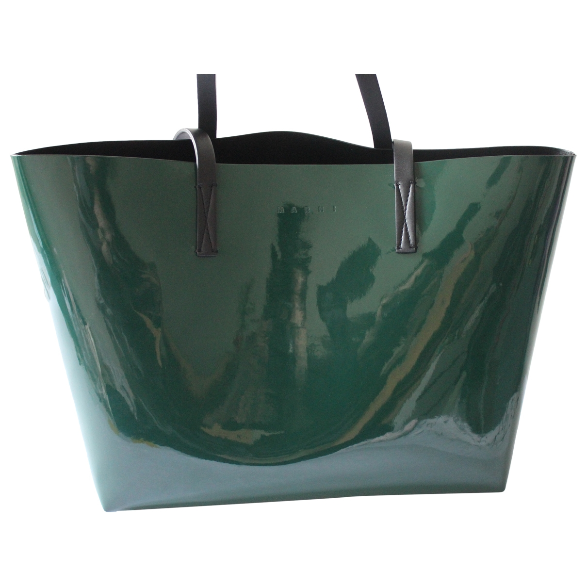 Marni \N Green Patent leather handbag for Women \N