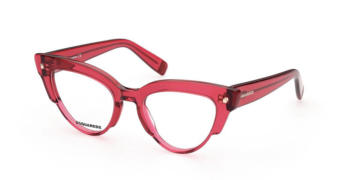 Dsquared2 DQ5343 066 Men's Glasses Red Size 49 - Free Lenses - HSA/FSA Insurance - Blue Light Block Available