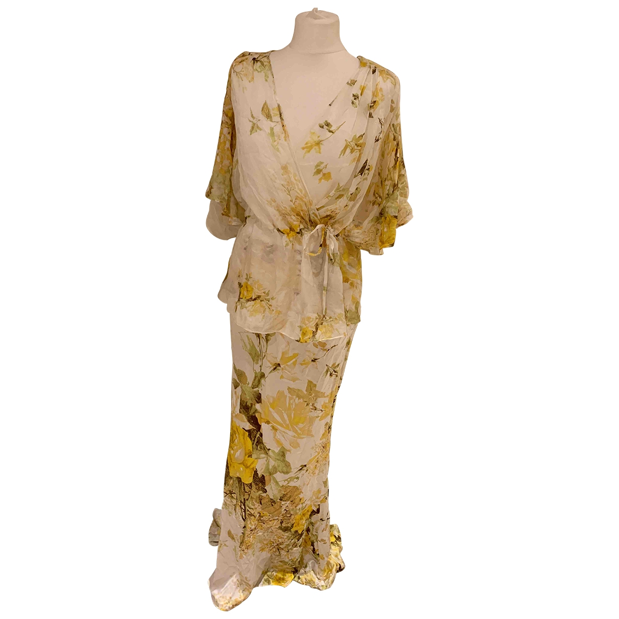 Roberto Cavalli - Robe   pour femme en soie - jaune