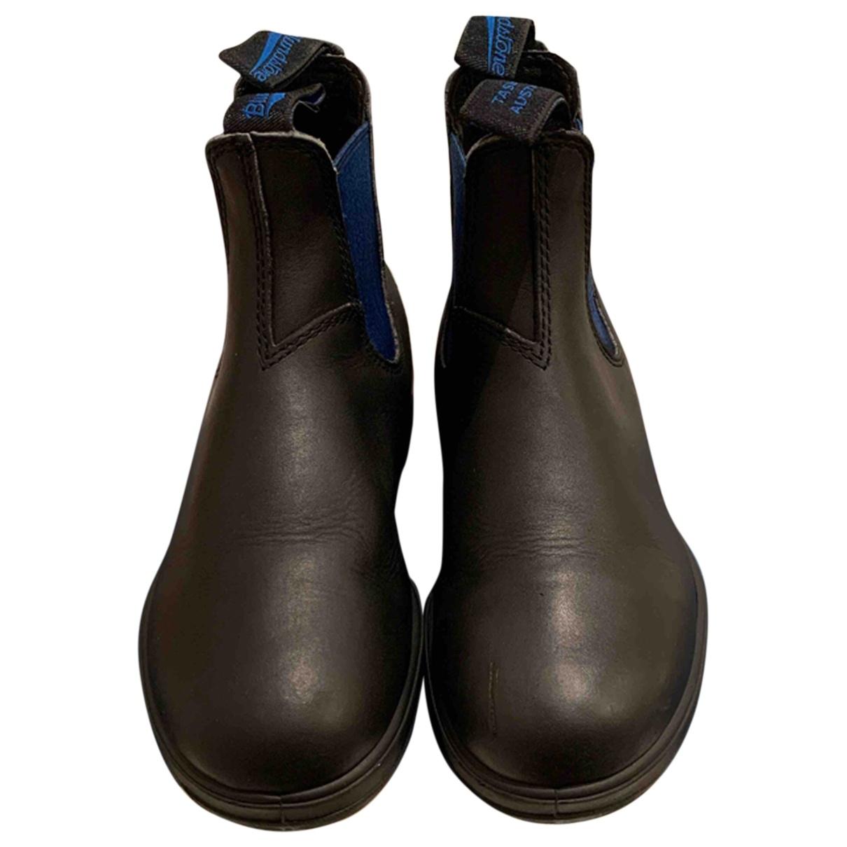 Blundstone - Bottes.Bottines   pour enfant en cuir - noir