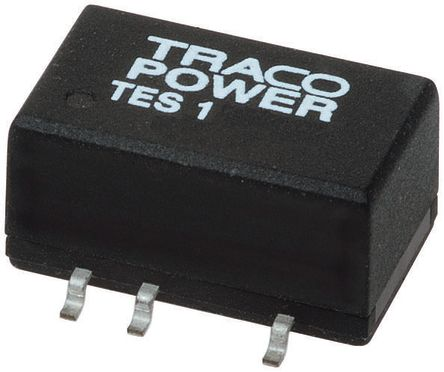 TRACOPOWER TES 1 1W Isolated DC-DC Converter Surface Mount, Voltage in 10.8 → 13.2 V dc, Voltage out ±15V dc